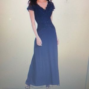 Onyx Sequined-Lace Contrast Gown